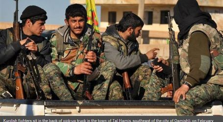 KURDISH FIGHTERS RECAPTURE TOWN IN HASAKAH
