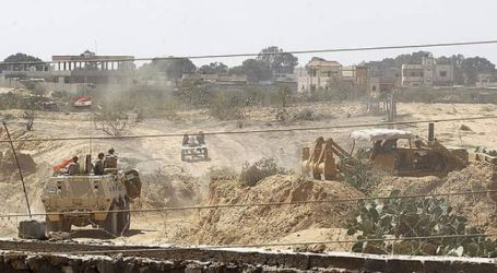 EGYPTIAN ARMY DECLARES DESTRUCTION OF 22 TUNNELS ON GAZA BORDER