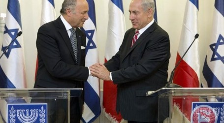 ISRAEL PM REJECTS 'DICTATES' AS FRANCE'S TOP DIPLOMAT VISITS