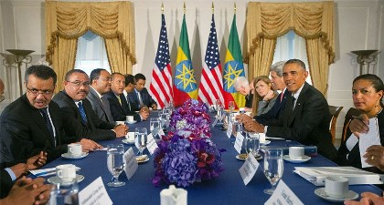 OBAMA DISCUSSES SECURITY, HUMAN RIGHTS IN ETHIOPIA