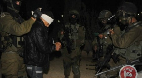 ISRAELI FORCES DETAIN 15 PALESTINIANS IN OVERNIGHT RAIDS