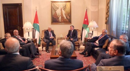JORDANIAN KING, ABBAS DISCUSS EFFORTS KICKSTART PALESTINIAN, ISRAEL PEACE PROCESS