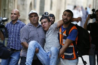 ISRAELI FORCES STORM AL-AQSA MOSQUE, ASSAULT WORSHIPPERS