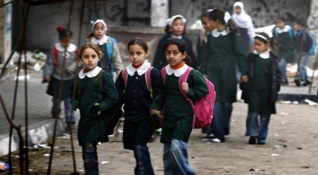 PARTIAL STRIKE IN GAZA SCHOOLS ON MONDAY