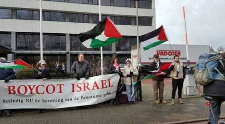 Protest March in The Hague Against Netanyahu's Visit