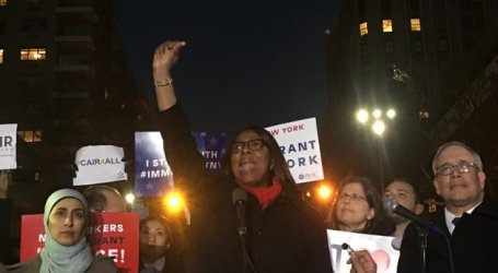 Muslim Leaders Hold Emergency Rally On Eve of Donald Trump's Muslim Ban