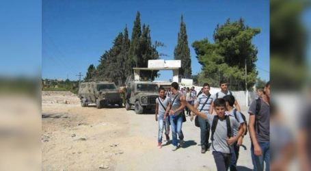 IOF Storms Palestinian School in Nablus