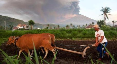 Mount Agung in Bali Erupts Again