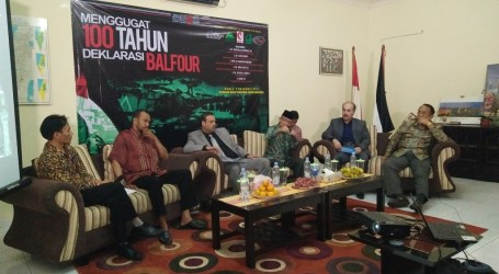 Indonesian Activists Gather in Palestine Embassy to Protest Balfour Declaration