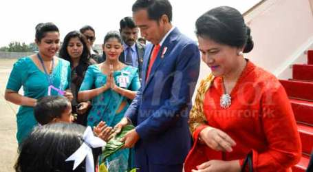 President Joko Widodo Arrives in Sri Lanka