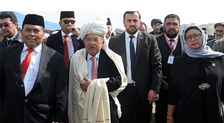 Jusuf Kalla Lays Cornerstone for Construction of Indonesian Clinic in Kabul