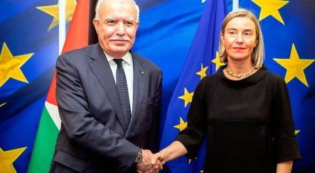 Palestinian FM, EU Foreign Policy Head Meet in Brussels
