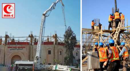 MER-C Begins to Build the Third Floor of Indonesia Hospital in Gaza