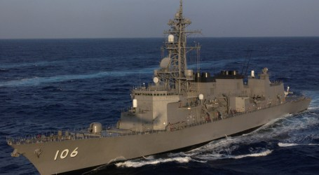 Japanese JS Samidare Warship Holds Honorary Visit in Jakarta