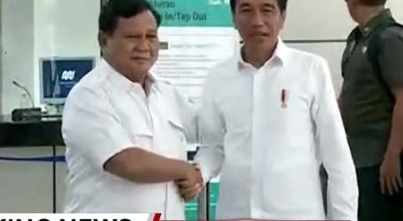 Finally, Jokowi-Prabowo Met Each Other
