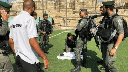 Israeli Forces Raid on Football Stadium in Jerusalem