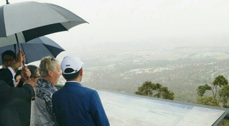 President Jokowi Visits Mount Ainslie, Canberra