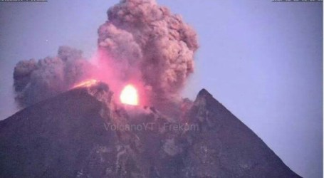 Merapi Mount Erupts 6000 Meters High of Volcanic Ash
