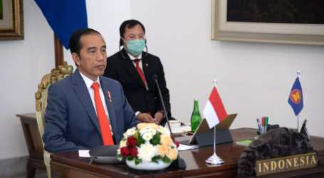 President Jokowi Joints ASEAN Special Summit for COVID-19 Issue