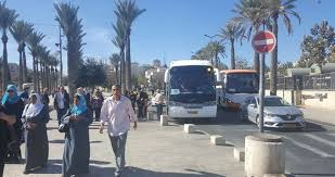 Palestinians Make Convoy from Ghalil to Al-Aqsa Mosque
