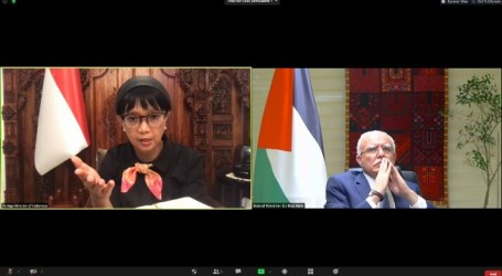 Minister Retno Affirms Indonesia's Support for Palestine to FM Riad