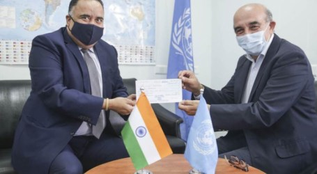 India Provides $1 Million to UNRWA for Palestinian Refugees