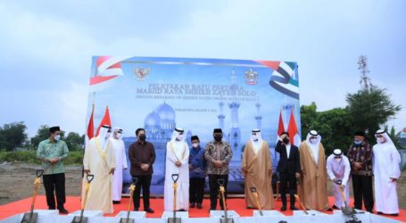 Groundbreaking for the Construction of Sheikh Zayed Grand Mosque in Solo