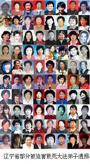 辽宁省部份被迫害致死的法轮功学员