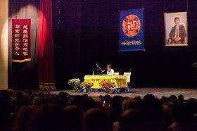二零一二年比利时布鲁塞尔欧洲法会上学员发言。