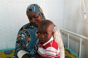 Lamatou with her son