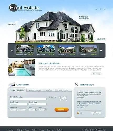 Real Estates Website