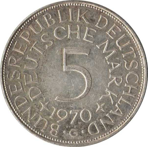 Picture of a 5 Deutche Mark Coin