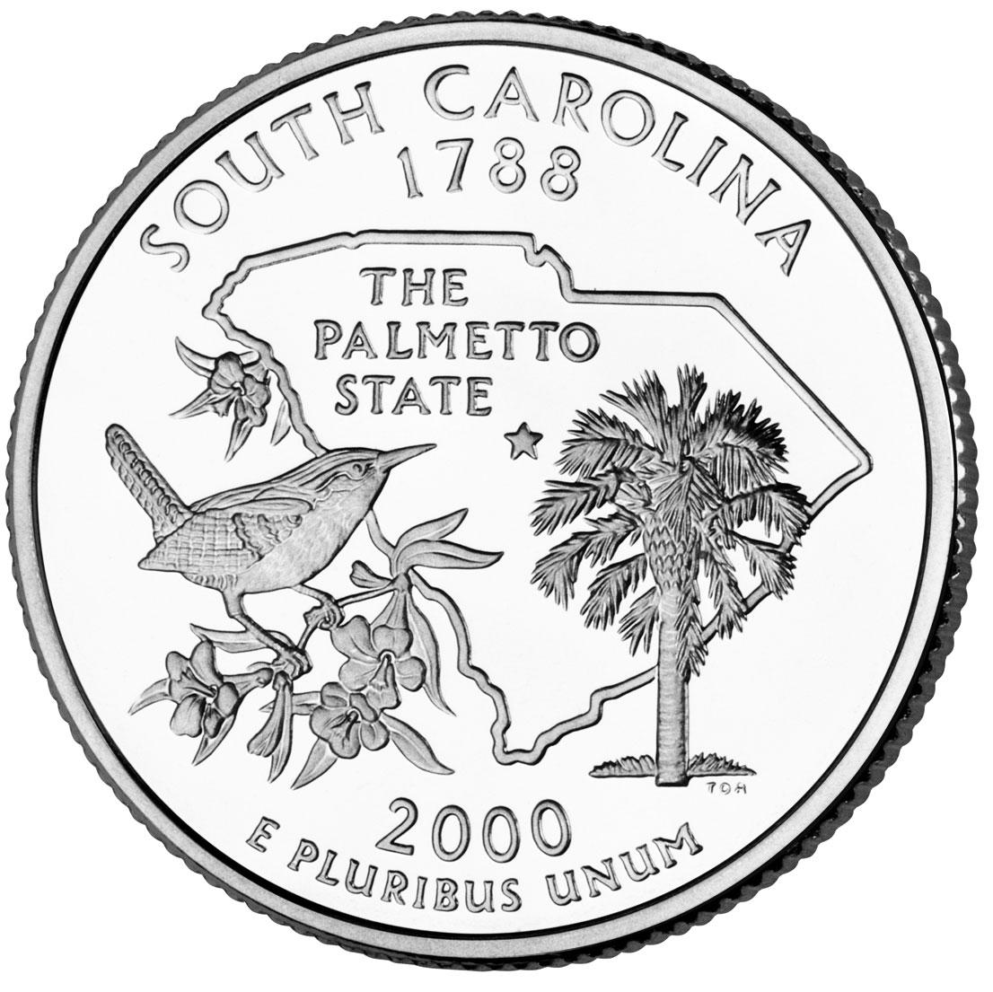 Dollar Washington Quarter South Carolina