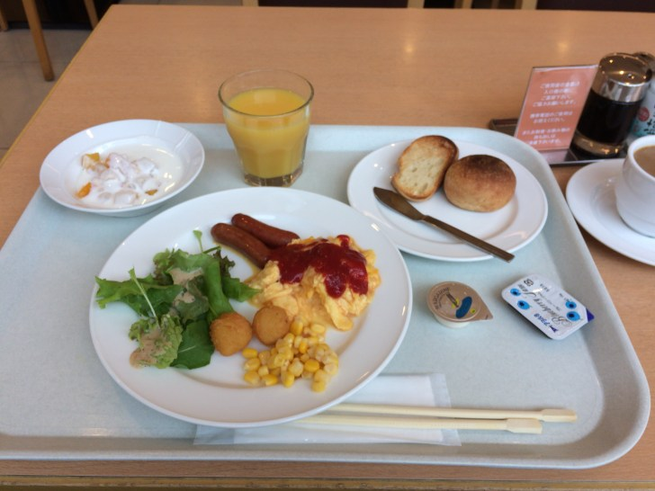 Western breakfast on the first morning