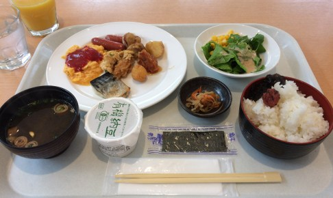 Japanese breakfast from the second morning
