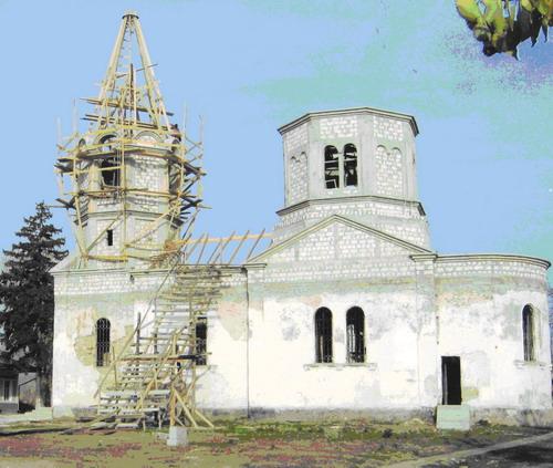 The Dormition Church under construction, 2004