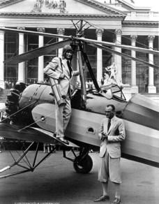 Hiram Bingham on the plane