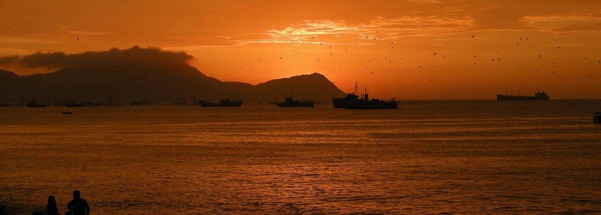 Blick aufs Meer von Callao