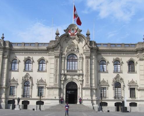 The Palacio de Gobierno del Peru in Lima Government Palace