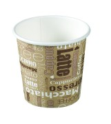 Paper cups for hot and cold beverages