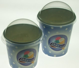 "New Paper Cups for Frozen Yogurt ""Dolce Gelato"""