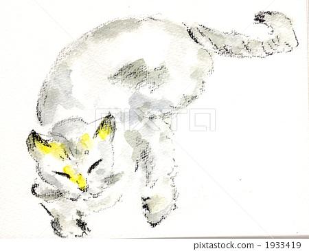 貓(手繪插圖)-插圖素材 [1933419] - PIXTA圖庫