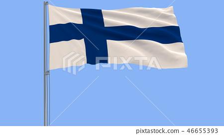Isolate Flag Of Finland On A Flagpole Fluttering Stock Illustration 46655393 Pixta