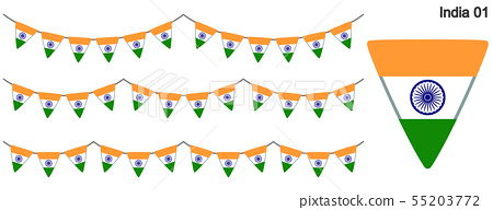 Garrand Of India Flag Vector Data Bunting Stock Illustration 55203772 Pixta