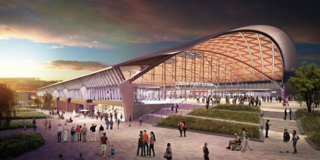 """Game-changer"" HS2 proposals could slash rail journey times. Photo: Grimshaw Architects / PA Wire"