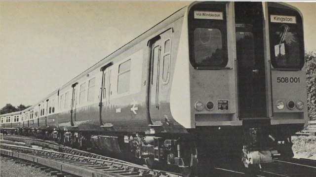 "First of the Southern's four-car class ""508"" units"