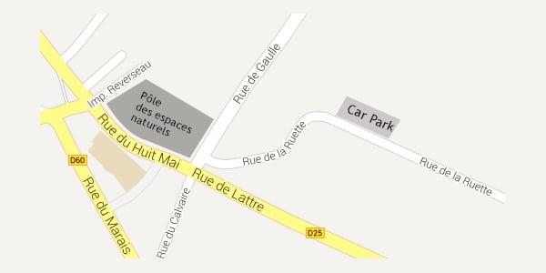 Plan d'accès - Réserve naturelle de Saint-Denis-du-Payré