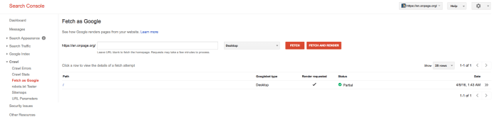 Test Javascript sites in the Google Search Console