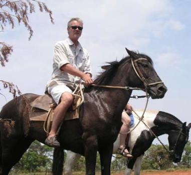Alexander Schukoff filming in Brasil