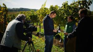 Shooting with winemaker Hofbauer-Schmidt